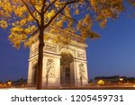 the triumphal arch is one of... | Shutterstock . vector #1205459731