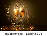 two champagne glasses ready to... | Shutterstock . vector #120546325