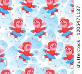 vector endless pattern with...   Shutterstock .eps vector #1205471137