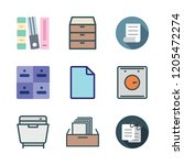 cabinet icon set. vector set... | Shutterstock .eps vector #1205472274