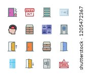 closed icon set. vector set... | Shutterstock .eps vector #1205472367