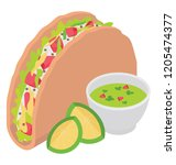 a mexican food tacos  tortilla ...   Shutterstock .eps vector #1205474377