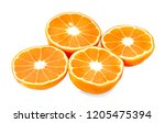 orange slice isolated on white... | Shutterstock . vector #1205475394