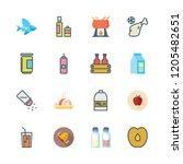 ingredient icon set. vector set ... | Shutterstock .eps vector #1205482651