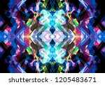 abstract multicolored... | Shutterstock . vector #1205483671