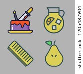 sweet icon set. vector set... | Shutterstock .eps vector #1205487904