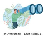 vision concept in business with ...   Shutterstock .eps vector #1205488831