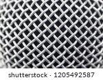 metal mesh on a musical vocal... | Shutterstock . vector #1205492587