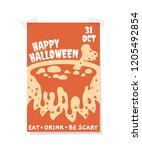 isolated light halloween... | Shutterstock .eps vector #1205492854
