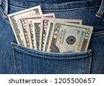 cash in your pocket | Shutterstock . vector #1205500657