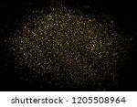 gold glitter texture isolated... | Shutterstock . vector #1205508964