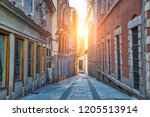 narrow streets of madrid in... | Shutterstock . vector #1205513914