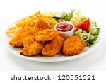 Fried Chicken Nuggets  French...