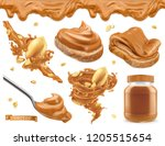 Peanut Butter. 3d Vector...