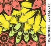seamless floral background.... | Shutterstock .eps vector #1205527264