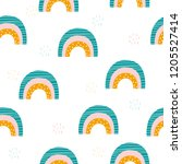 seamless pattern with cute... | Shutterstock .eps vector #1205527414