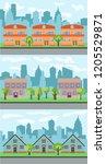set of three vector... | Shutterstock .eps vector #1205529871