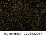 gold glitter texture isolated... | Shutterstock . vector #1205532067