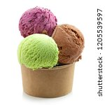 colorful ice cream balls in... | Shutterstock . vector #1205539597