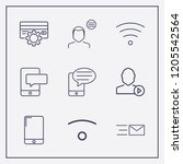 outline 9 touch icon set. user... | Shutterstock .eps vector #1205542564