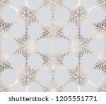 silver glitter snowflakes... | Shutterstock .eps vector #1205551771