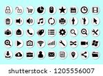set vector line icons in flat... | Shutterstock .eps vector #1205556007
