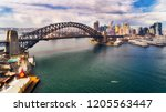 steel arch of the sydney...   Shutterstock . vector #1205563447