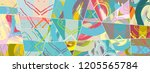 abstract collage asymmetric... | Shutterstock .eps vector #1205565784