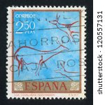 spain   circa 1967  stamp... | Shutterstock . vector #120557131