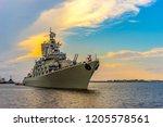 warships. missile cruiser.... | Shutterstock . vector #1205578561