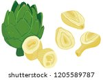 vector painterly set of... | Shutterstock .eps vector #1205589787