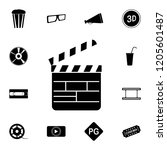 directors cracker icon.... | Shutterstock .eps vector #1205601487