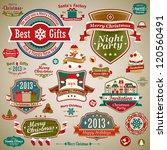Christmas Vintage Set   Labels  ...