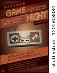 game night party invitation  ... | Shutterstock .eps vector #1205608084