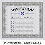 grey retro invitation template. ...   Shutterstock .eps vector #1205613151