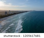 the coastline at the gold coast ... | Shutterstock . vector #1205617681