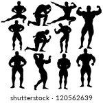 Vector Bodybuilding Silhouettes