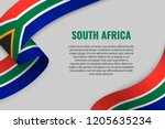 waving ribbon or banner with... | Shutterstock .eps vector #1205635234