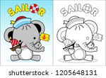 coloring book vector with... | Shutterstock .eps vector #1205648131