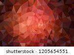 dark red vector triangle mosaic ...   Shutterstock .eps vector #1205654551