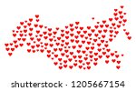 mosaic map of russia formed... | Shutterstock .eps vector #1205667154