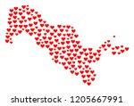 collage map of uzbekistan...   Shutterstock .eps vector #1205667991