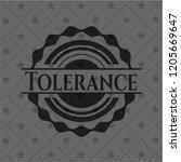 tolerance black emblem. vintage. | Shutterstock .eps vector #1205669647