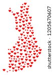 mosaic map of finland designed... | Shutterstock .eps vector #1205670607