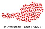 mosaic map of austria formed... | Shutterstock .eps vector #1205673277