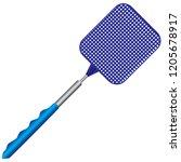 plastic classic fly swatter ...   Shutterstock .eps vector #1205678917
