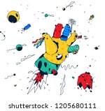 abstract illustration of the... | Shutterstock .eps vector #1205680111