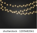 christmas lights isolated...   Shutterstock .eps vector #1205682061