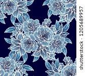 abstract elegance seamless... | Shutterstock .eps vector #1205689957
