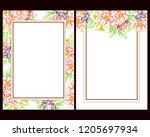 romantic wedding invitation... | Shutterstock . vector #1205697934